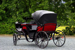 Old carriage, stagecoach pulled by horses. Horse-drawn carriages Stock Image