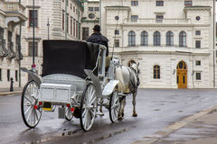 Old carriage touristic attraction in Vienna, Austria. Old carriage touristic attraction in center of Vienna, Austria royalty free stock photo