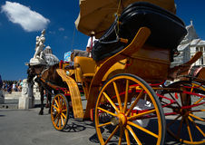 Old carriage for tourists in Pisa Stock Image