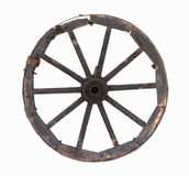 Old carriage wheel object Stock Image