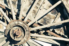 Old carriage wheel Royalty Free Stock Photo