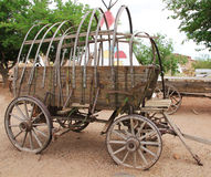 Old carriage. Wooden wagon Stock Photos