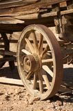 Old carriage wooden wheel Royalty Free Stock Photography