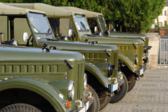 Old Cars, Army Russian Trucks Stock Image