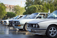 Old cars BMW. The gathering of the Amateurs of automobiles BMW years 1980-2005 Stock Photography