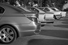 Old cars BMW. The gathering of the Amateurs of automobiles BMW years 1980-2005 Stock Images
