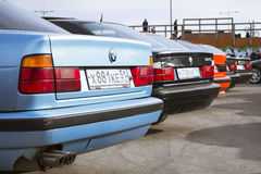 Old-cars BMW 5-series e34 Royalty Free Stock Images