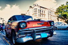 Old cars. Old classic cars on the streets of cuba Stock Photos