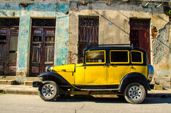 Old cars. Old classic cars on the streets of cuba Royalty Free Stock Photos