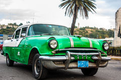 Old cars. Old classic cars on the streets of cuba Royalty Free Stock Photo