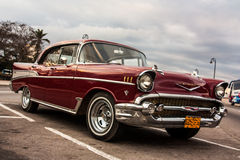 Old cars. Old classic cars on the streets of cuba Stock Images