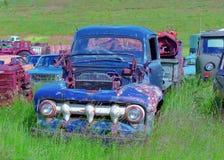 Old cars dump stock photos