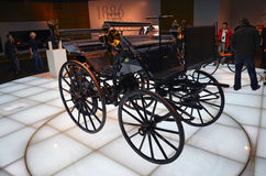 Old cars exhibit in the Mercedes-Benz museum in Stuttgart Stock Photography