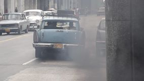 Old cars in Havana, Cuba stock video
