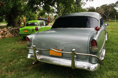 Old cars in park of Varadero Stock Photography