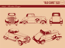 Old cars  - pontiac coupe. A set of vector about Pontiac Coupe car from many angles. Drawn in details with neat technique. The color could easily be changed Royalty Free Stock Image