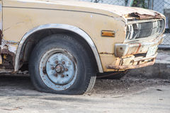 Old cars for scrap. Royalty Free Stock Photo