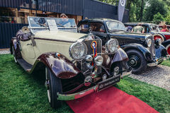 Old cars show Royalty Free Stock Photos