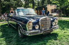 Old cars show. Warsaw, Poland - August 2, 2015: Mercedes W112 300SE from 1967 during retro cars show in Warsaw Stock Photo