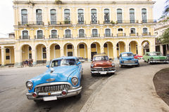 Old cars on street of Havana, Cuba Royalty Free Stock Images