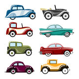 Old cars vector. Set of old cars vector Royalty Free Stock Photo