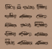 Old cars. Vector format. Authors illustration in vector Royalty Free Stock Photos