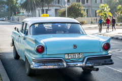 Old cars on Vedado district in Havana, Cuba Stock Photo
