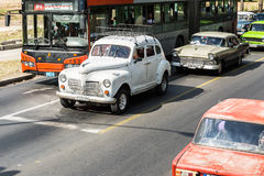 Old cars on Vedado district in Havana, Cuba Royalty Free Stock Photo