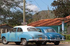 Old cars in Vinales Stock Images
