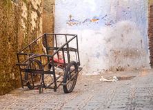 Old Cart. Old cargo cart on street passage royalty free stock photos