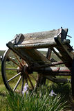 Old Cart. Old wooden cart in ghosttown Bodie, California royalty free stock photo