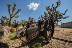 Old Cart  Abandoned in  Arizona Desert Royalty Free Stock Photography