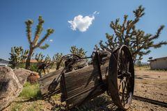 Old Cart  Abandoned in  Arizona Desert Stock Images