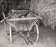 Old Cart in the Barn Royalty Free Stock Images
