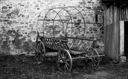 Old cart. In black and white Stock Photos