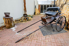 Old cart and dummy in Hahndorf Stock Image