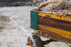 Old cart. At a farm Stock Photography