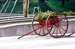 Old cart of flower Stock Photography