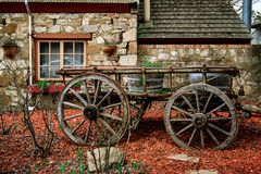 Old cart in Hahndorf. Old cart in the town of Hahndorf, Adelaide Hills, South Australia Royalty Free Stock Photos