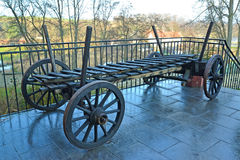 The old cart with removable boards. Poland Stock Images
