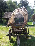 Old cart with tarpaulin Royalty Free Stock Photography