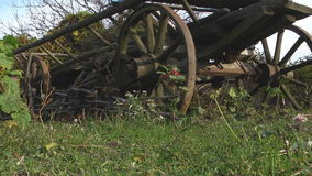 Old Cart for Transportation stock video