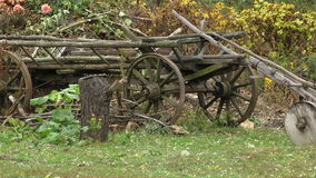Old Cart for Transportation stock footage