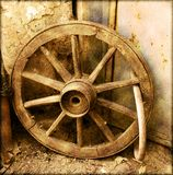 Old cart wheel Stock Image