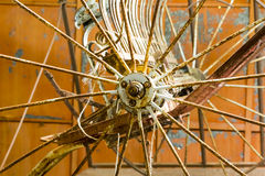 Old Cart Wheel. Stock Images