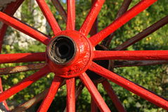 Old cart wheel Royalty Free Stock Photos