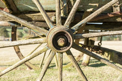 Old cart wheel Royalty Free Stock Image