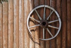 Old cart wheel Stock Photography