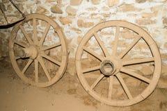 Old cart wheels Royalty Free Stock Image