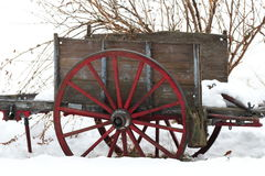 Old cart in winter Stock Photos